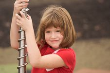 Free Adorable Young Girl At The Park Royalty Free Stock Photo - 8193395
