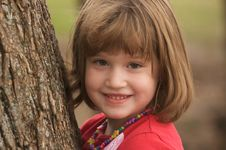 Free Adorable Young Girl At The Park Royalty Free Stock Photography - 8193407