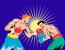 Free Boxer Connecting A Knockout Stock Photo - 8193450