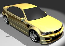 3D Image Of BMW M3 Royalty Free Stock Photos