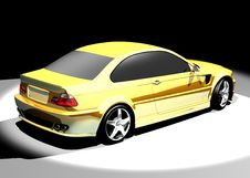 3D Image Of BMW M3 Stock Image