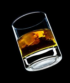 Free Glass Of Whiskey And Ice Stock Photos - 8194183