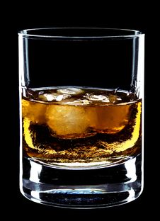 Free Glass Of Whiskey And Ice Stock Photography - 8194262