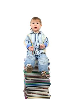 Free Boy And Books Royalty Free Stock Images - 8194309