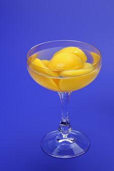 Peaches Halves In Light Syrup Stock Photos