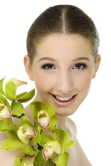 Free Beauty And Orchid Royalty Free Stock Photography - 8194797