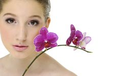 Free Beauty And Orchid Royalty Free Stock Image - 8194866