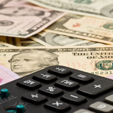 Background From Money And Calculator Royalty Free Stock Image