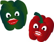 Free Sweet Peppers Royalty Free Stock Photo - 8195845