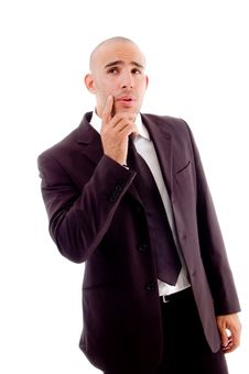 Free Thinking Pose Of Businessman Stock Images - 8196184