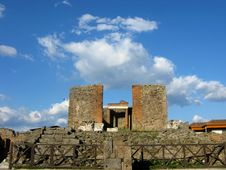 Buildings Of An Ancient Roman City Pompeii Royalty Free Stock Images