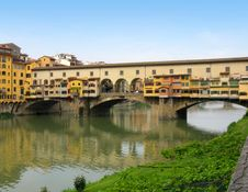 Free View Of Bridge Ponte Vecchio On Arno River Stock Photo - 8196430