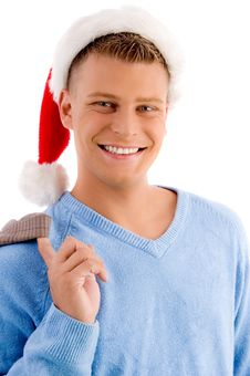Free Holiday - Man With Christmas Hat Royalty Free Stock Photo - 8196885