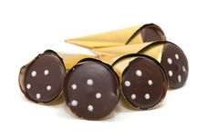 Free Sweet Candies In Golden Foil Stock Images - 8196924