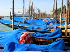 Free Gondolas At Venice Italy Stock Photography - 8197062