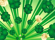 Free Retro St. Patrick S Day Shamrocks Stock Image - 8197201