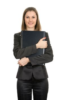 Free Friendly Businesswoman With A Laptop Royalty Free Stock Image - 8197556