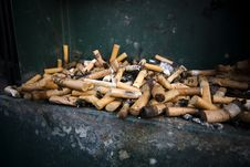 Free Dirt And Cigarettes Royalty Free Stock Photography - 8198537