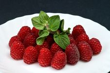 Free Fresh Ripe Raspberry Stock Image - 8199061