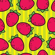 Seamless Colorful Strawberry Pattern Stock Image