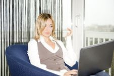 Free Businesswoman Working At Home Stock Photography - 8199622