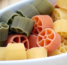 Free Pasta Tricolore Royalty Free Stock Images - 8199699