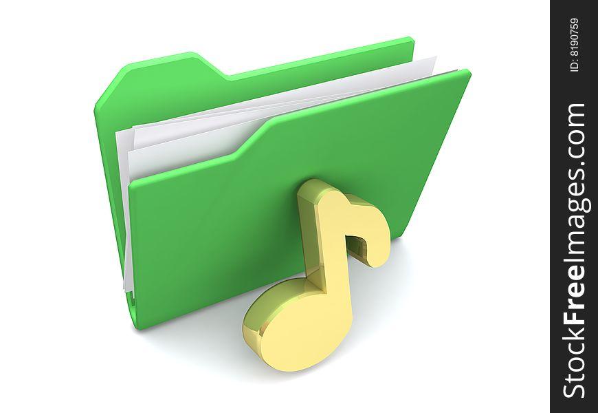 Folder for media