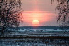 Free Winter Sunset Royalty Free Stock Image - 81970556
