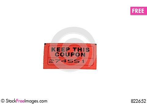 Raffle Ticket (with clipping path) Stock Photo