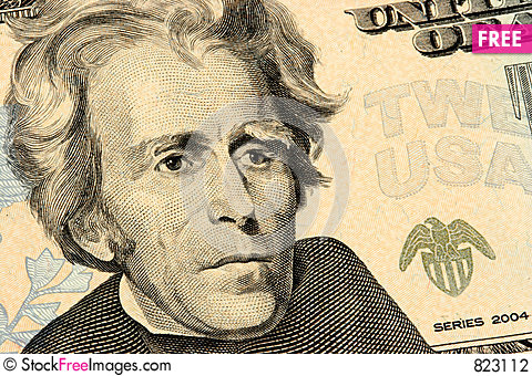 Free Twenty Dollars Bill Closeup Stock Photography - 823112
