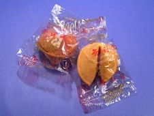Sealed Fortune Cookies Stock Photo