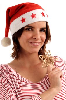 Pretty Santa Royalty Free Stock Image