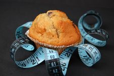 Blueberry Muffin Diet -Single Royalty Free Stock Photo
