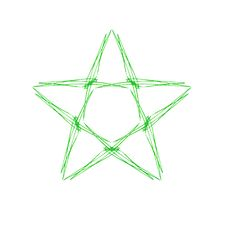 Free Green Star Royalty Free Stock Photography - 823077