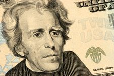Free Twenty Dollars Bill Closeup Stock Photography - 823112
