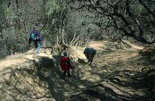 Free Trekkers And Porter Stock Image - 823731