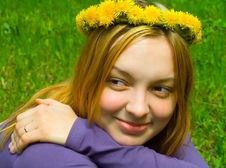 The Girl In A Wreath Royalty Free Stock Photos