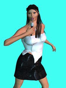3D Singer Stock Photo