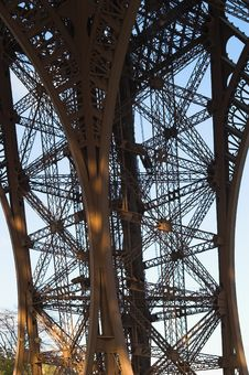 Eiffel Tower Pier Details, Paris, France Stock Photography