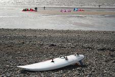 Free Kite Board On Beach Royalty Free Stock Photo - 825125