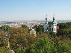 Free Prague Aerial View Royalty Free Stock Image - 826006