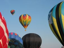 Free Hot Air Balloons In Flight Royalty Free Stock Image - 826036