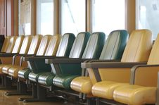 Free A Row Of Vacant Airport Terminal Seats Royalty Free Stock Photos - 826698