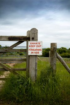 Private Keep Out Royalty Free Stock Photography