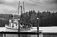 Fishing Boat In Harbor Stock Images