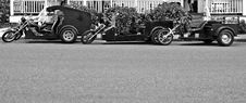 Free Three Black And White Trikes Royalty Free Stock Photos - 828548