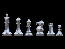 Free Silver Chess Set Royalty Free Stock Photos - 828688