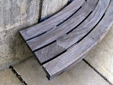 Free Urban Bench Of Wood And Concrete Stock Photo - 829950