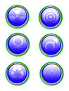 Free Blue Icon Set Royalty Free Stock Images - 8204559