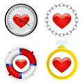 Free Heart Symbol Set Vector Stock Photo - 8209330